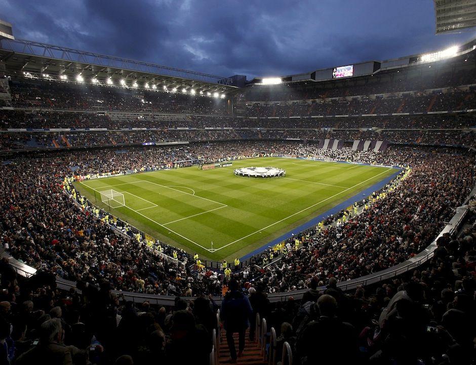 champions league night at estadio santiago bernabeu real madrid