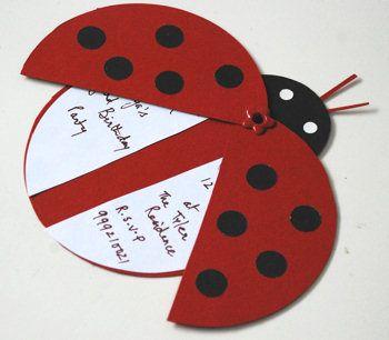 Ladybug Party Invitations Invitaciones Caseras Tarjetas