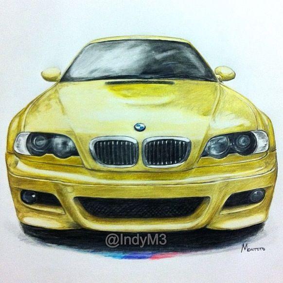 Bmw Z3 Yellow: BMW E46 M3 Pheonix Yellow Http://fineartamerica.com