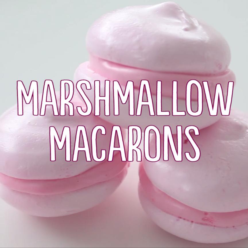 marshmallow macarons rezept kochen kuchen backen und schokolade. Black Bedroom Furniture Sets. Home Design Ideas