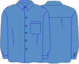 363b8318b7 Molde basico de camisa masculina em tecido plano