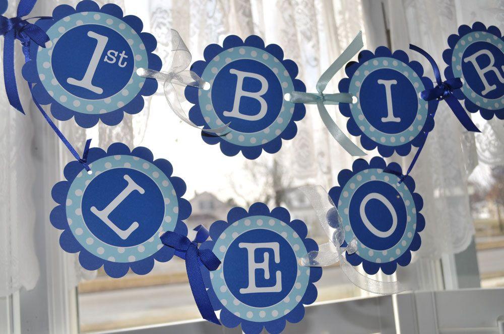 Happy 1st Birthday Banner Birthday Banner Boys Birthday