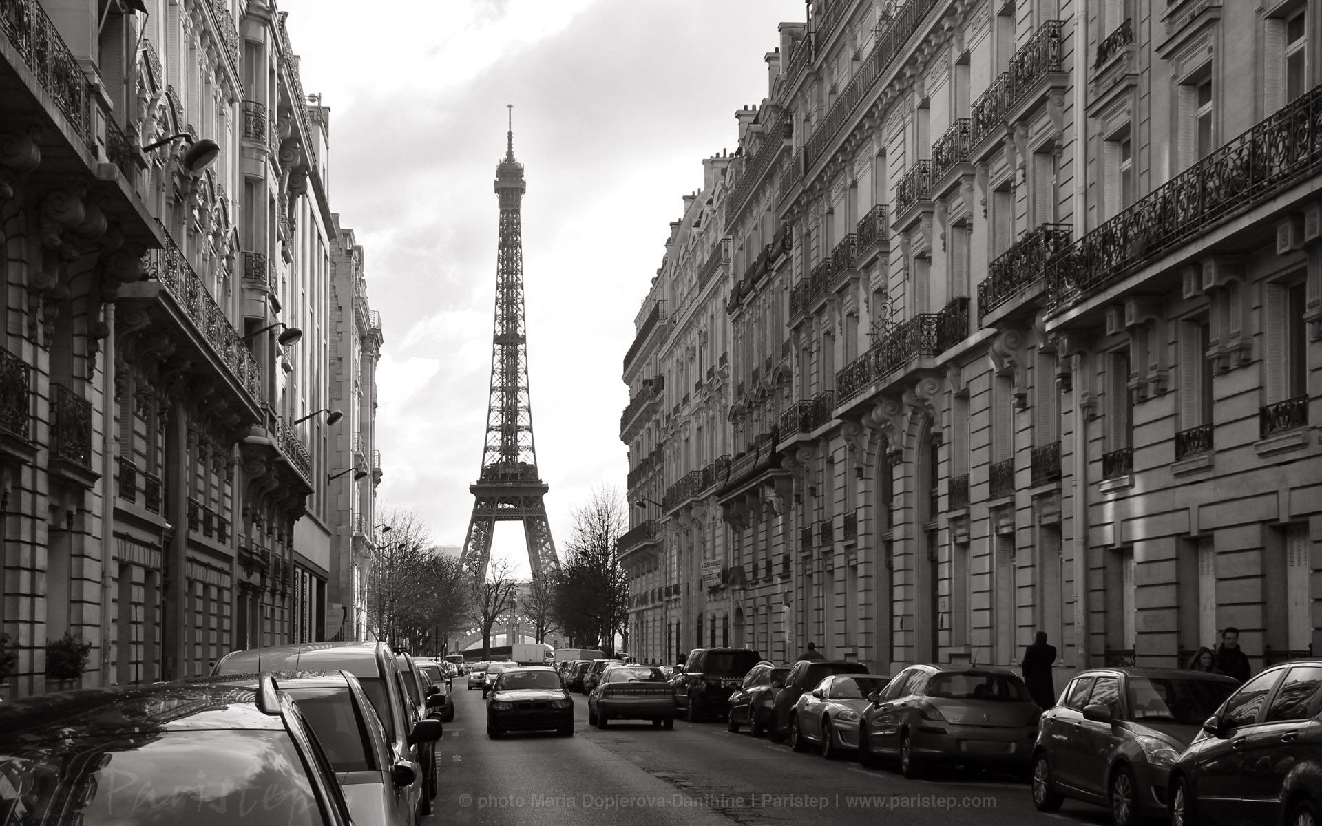 Free Black And White Paris Wallpaper High Resolution