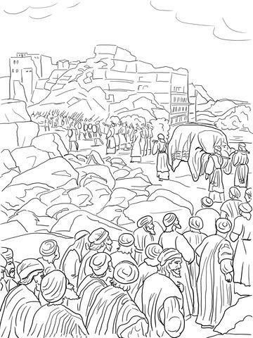 Josué captura Jericó Dibujo para colorear | MURALHAS DE JERICÓ ...