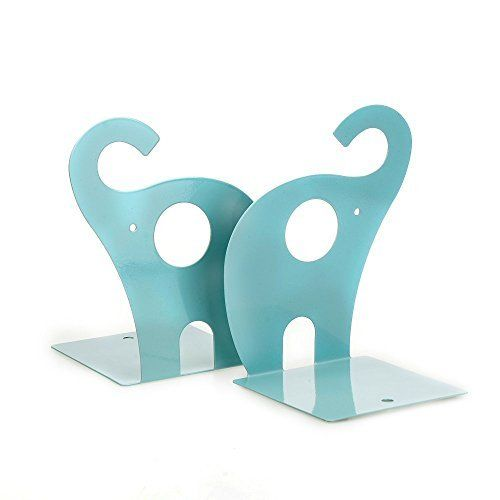 SySrion 1pair Cute Blue Elephant Nonskid Bookends Art Bookend, http://www.amazon.com/dp/B011NDXKM2/ref=cm_sw_r_pi_awdm_A7f0vb0TJZ5HQ
