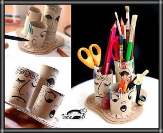 اعمال فنية يدوية حديثة اشغال يدوية بالكرتون اعمال اعادة تدوير سهله للاطفال بالصور بالخطوات سهلة بالصناديق بالاشياء ا Diy Pencil Holder Crafts Toilet Paper Tube