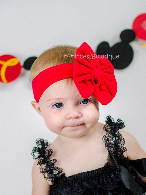 Red Hair Bow Headband 336bf3770f1