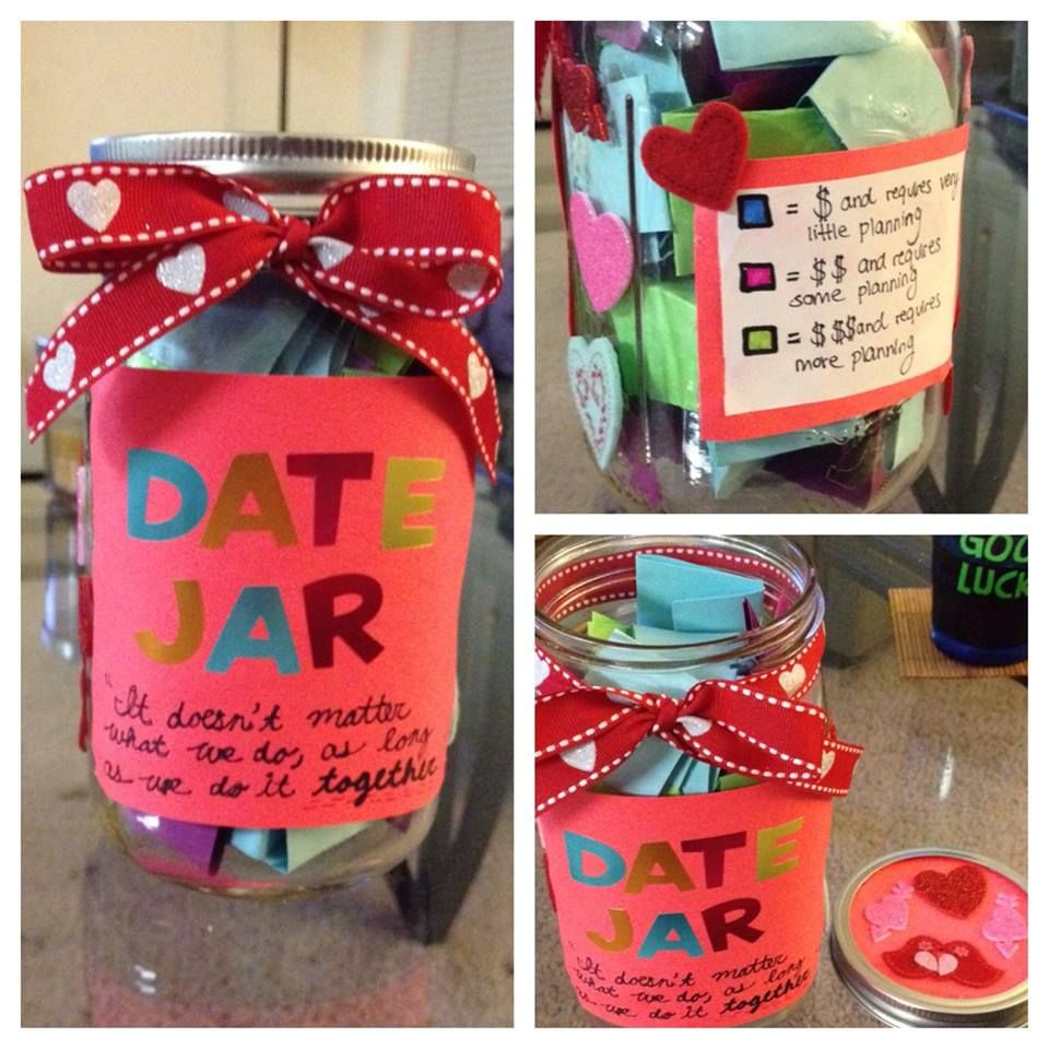 Created A Date Jar For My Boyfriend For Valentine S Day Same Concept I Did For My Pick Me Up Jar Materials Needed Paper Crafts Diy Boyfriend Crafts Diy Paper