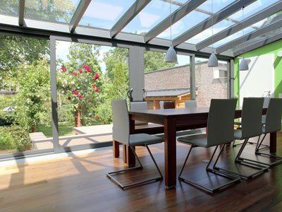 House Mono Pitch Roof Dining Room