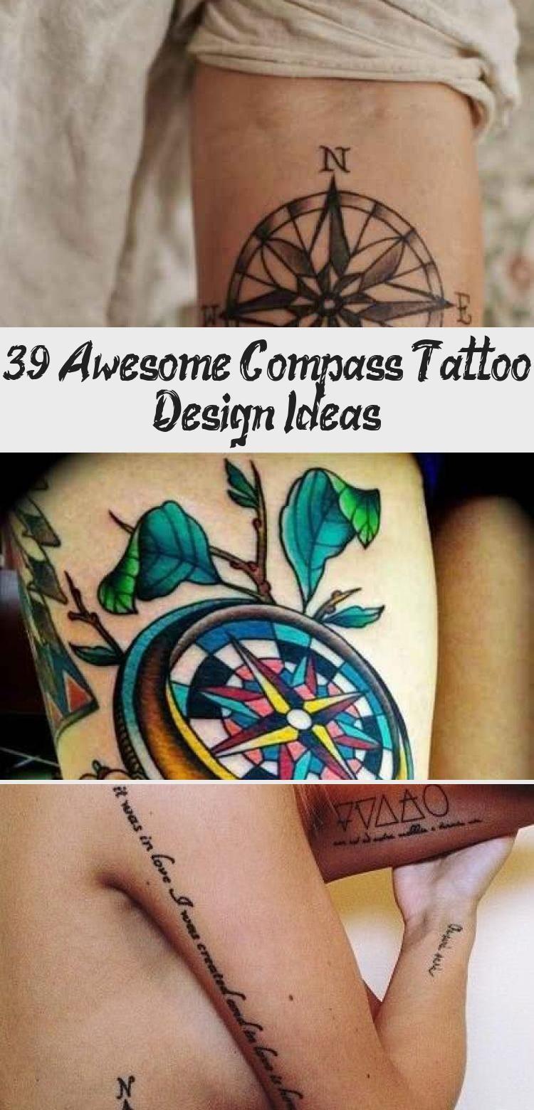 Photo of Design and cute compass tattoo / Tatouage moderne et mignon d'une rose des vents…