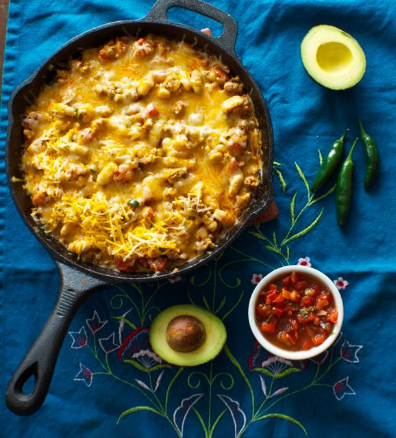 One dish is all you need! Mexican Skillet Casserole