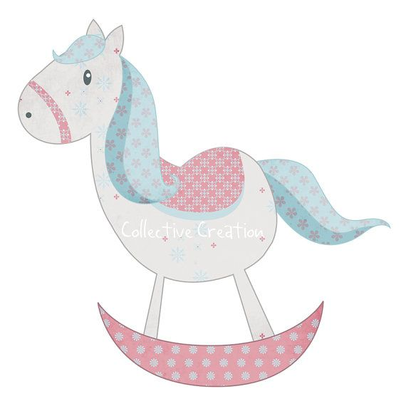Sagoma Cavallo A Dondolo Disegno.Cavallo A Dondolo Digital Clipart Clipart Per Uso Personale E