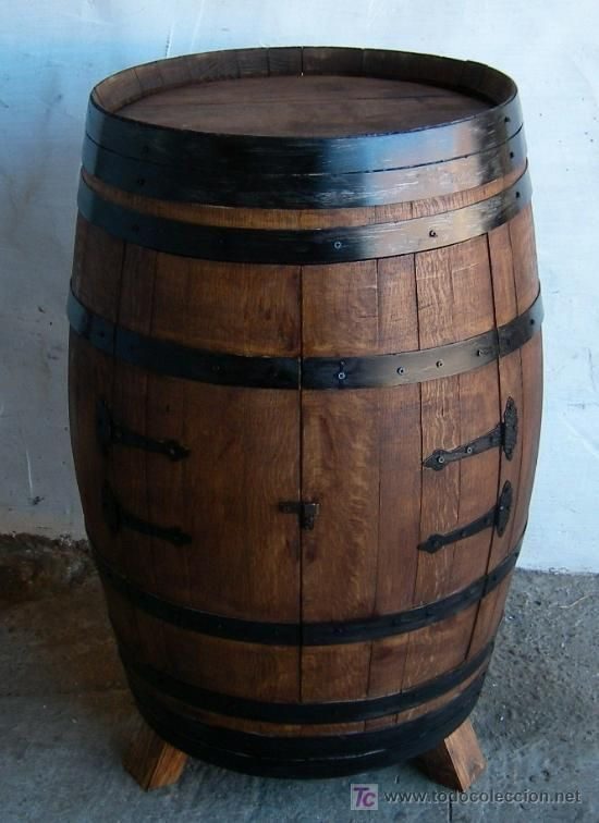 Botellero barrica de vino mueble en madera roble americano mue365 obras pinterest - Botelleros de madera para vino ...
