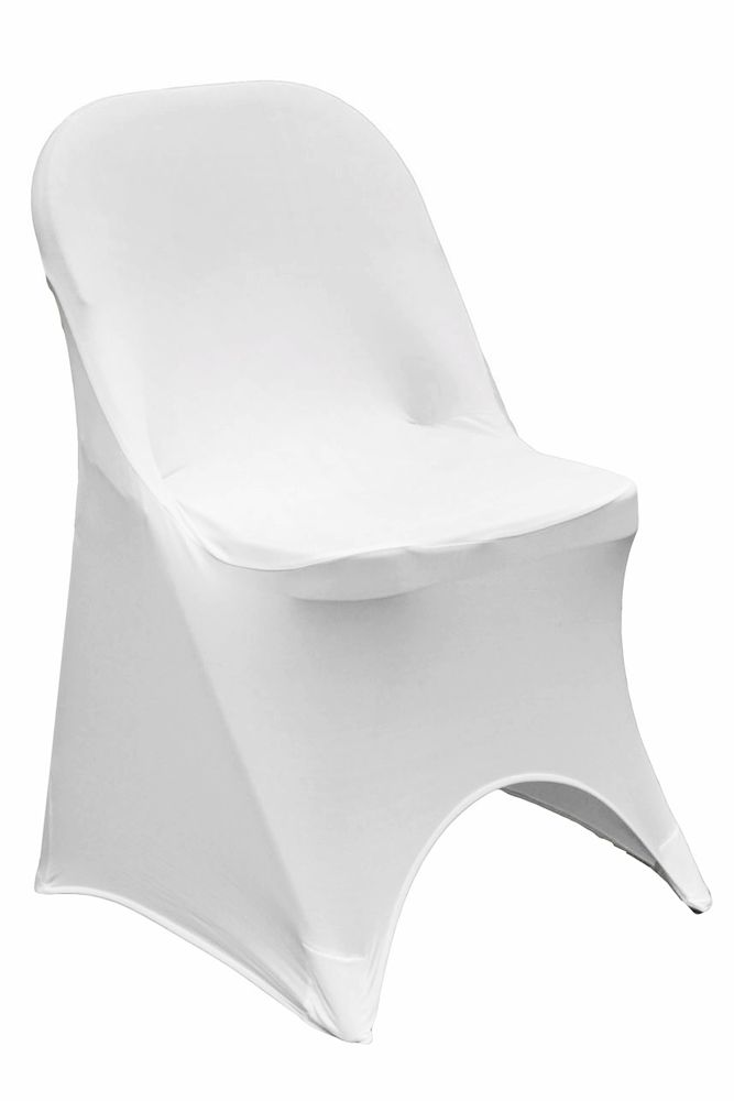 Folding Spandex Chair Cover White | Spandex chair covers