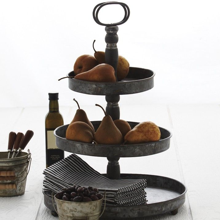 Three Tiered Serving Stand These Brushed Metal 3 Tier Stand Stand Is Great For Displaying Serving Food Tiered Serving Stand Serving Stand