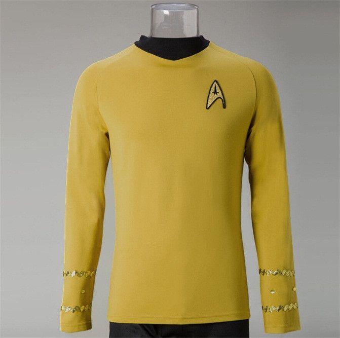 Star Trek TOS Spock Blue Shirt Uniform The Original Series Cosplay Costume New