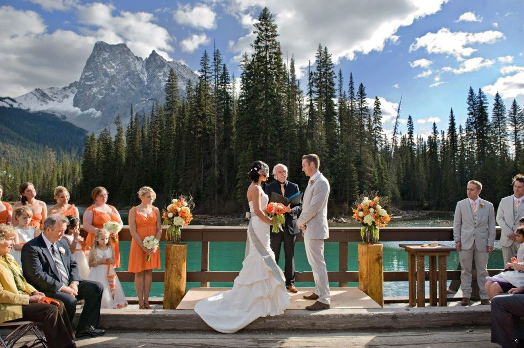 Wedding Canadian Rocky Mountain Resort S Emerald Lake Lodge