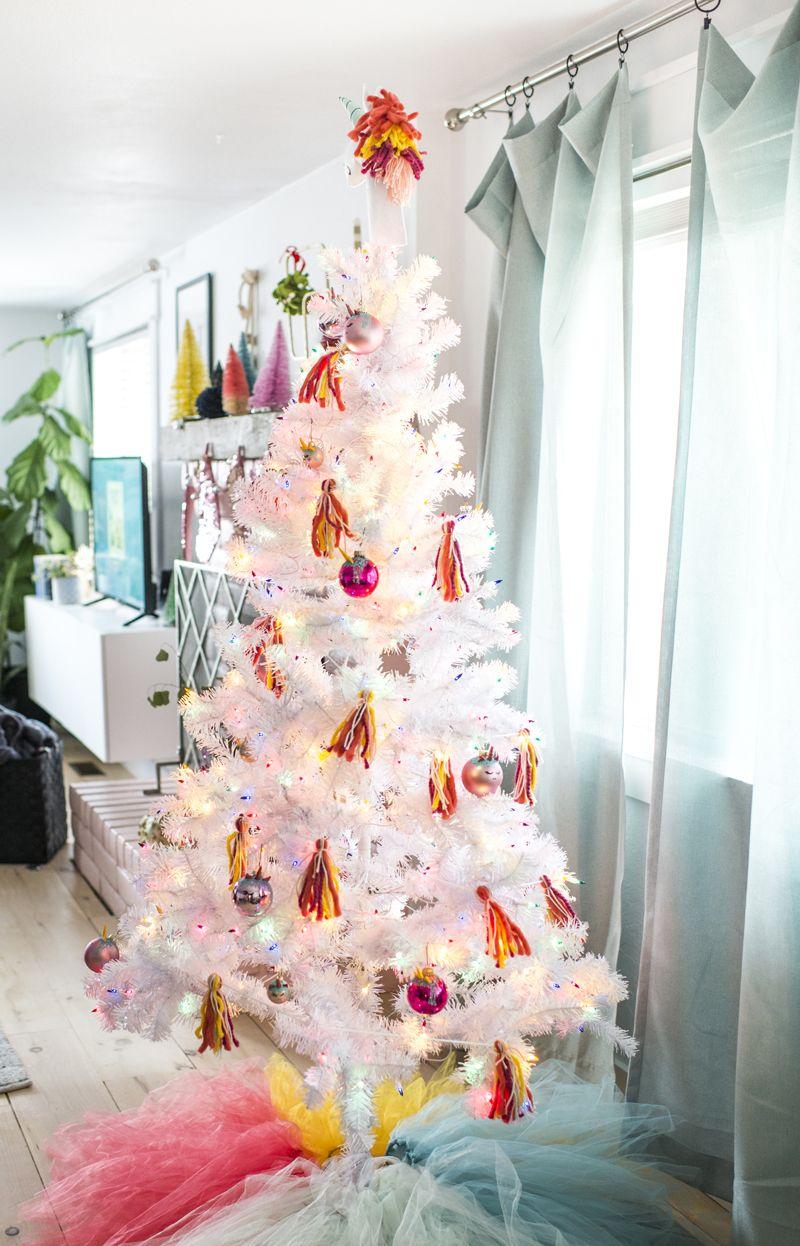 Unicorn Christmas Tree Easy Christmas Decorations Diy Christmas Decorations Easy Easy Christmas Tree Decorations