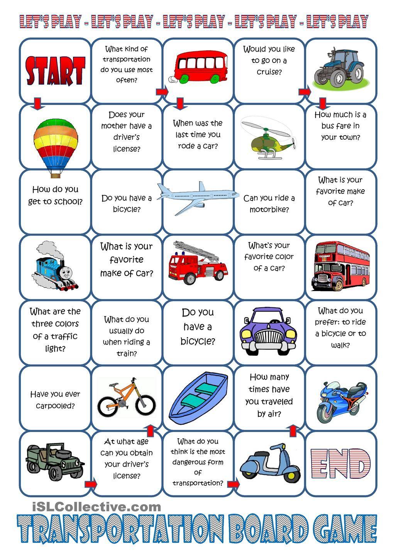 Transportation Board Game Board games, Speaking games