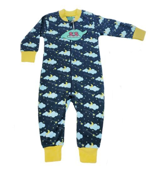 4f546bc4a Lemon Lightning Pajama Zip Suit