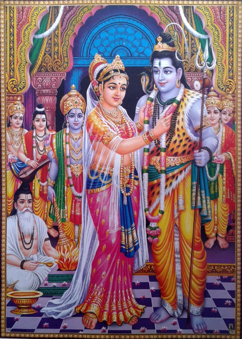 Lord shiva parvati vivah vivaah marriage poster big