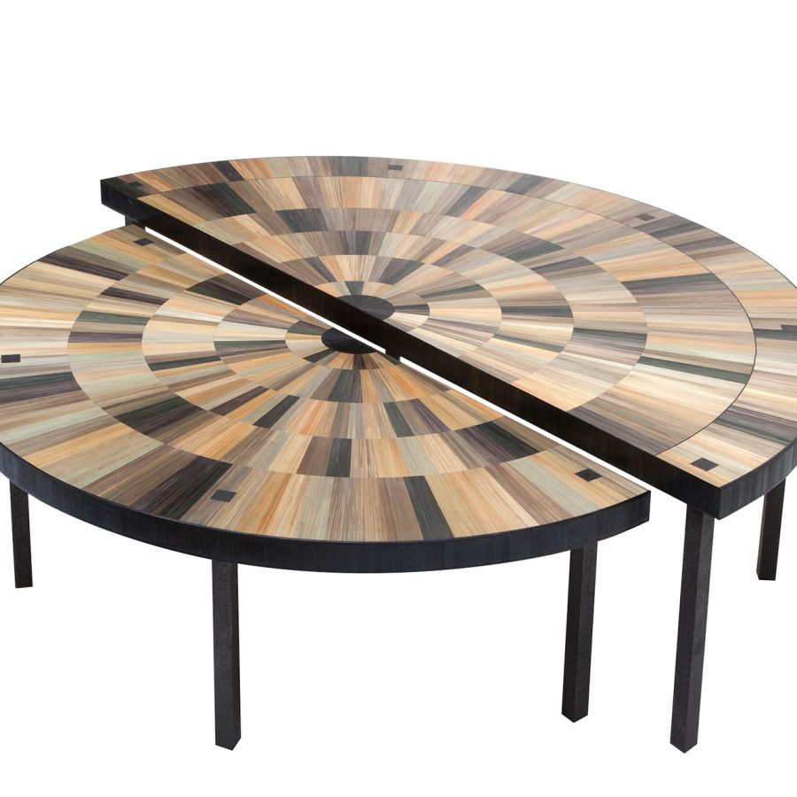 Table Basse Marqueterie avec table basse iris – 130 x 65 x 38 cm/ 110 x 55 x 33,5 cm – fer