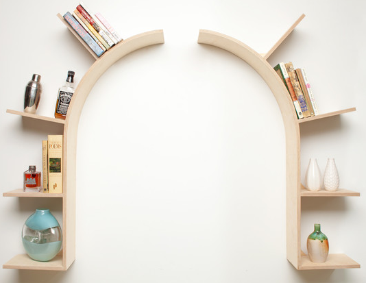 Curved floating shelf as doorframe  Unique Wall ...