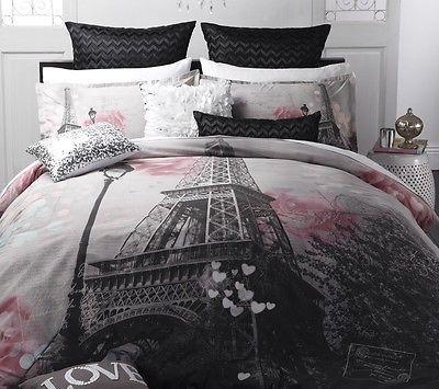 Logan & Mason MA CHERIE Paris Eiffel Tower QUEEN Size Bed Doona ... : eiffel tower quilt cover - Adamdwight.com
