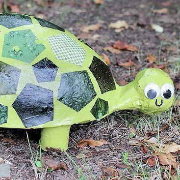 Como Fazer Tartaruga com Material Reaproveitado - Reciclagem no Meio Ambiente - O seu portal de artesanato com material reciclado