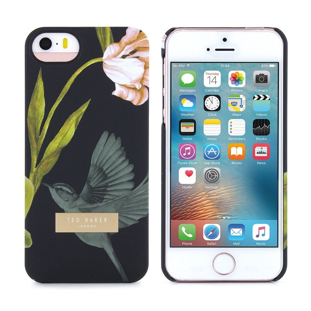 281d4f823 Official Ted Baker AW15 Soft Feel Hard Shell Cover for Apple iPhone SE  Protective Snap on Back Cover in Black for Apple iPhone SE - DOBOS   Amazon.ca  .