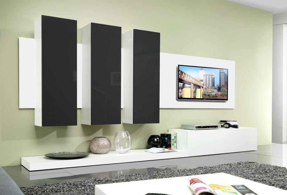 Avanti BLACK - meuble tv avec rangement Pinterest Modern wall - Meuble Tv Avec Rangement