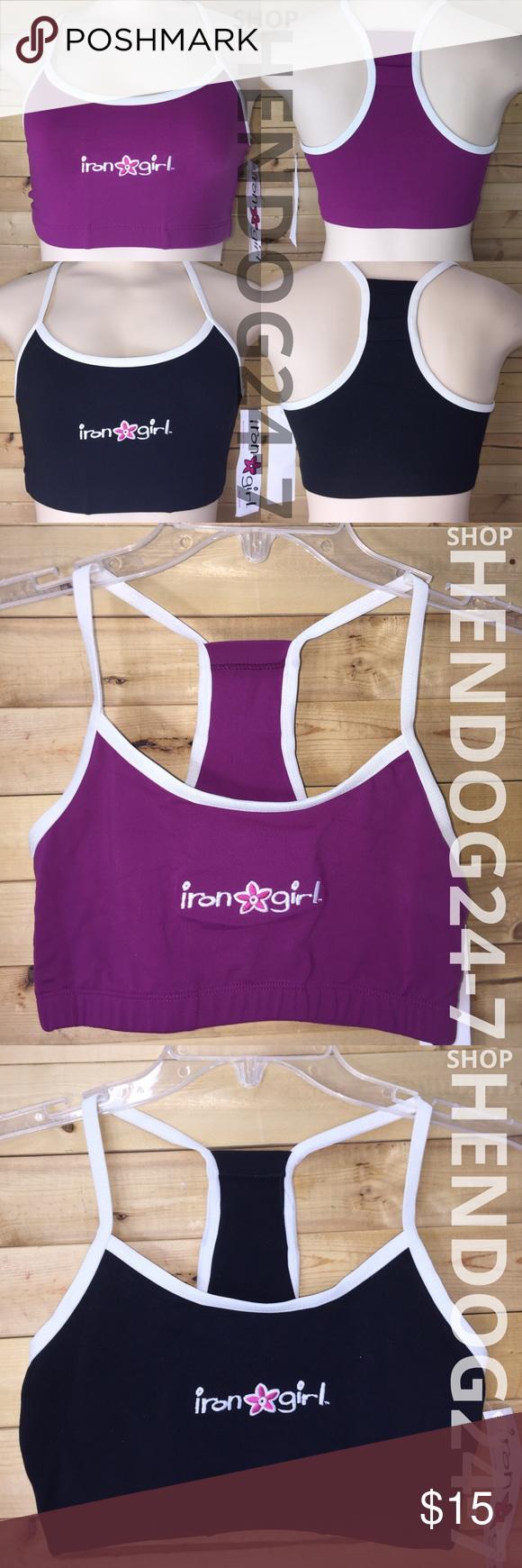 Iron girl triathlon bike run swim racerback bra nwt