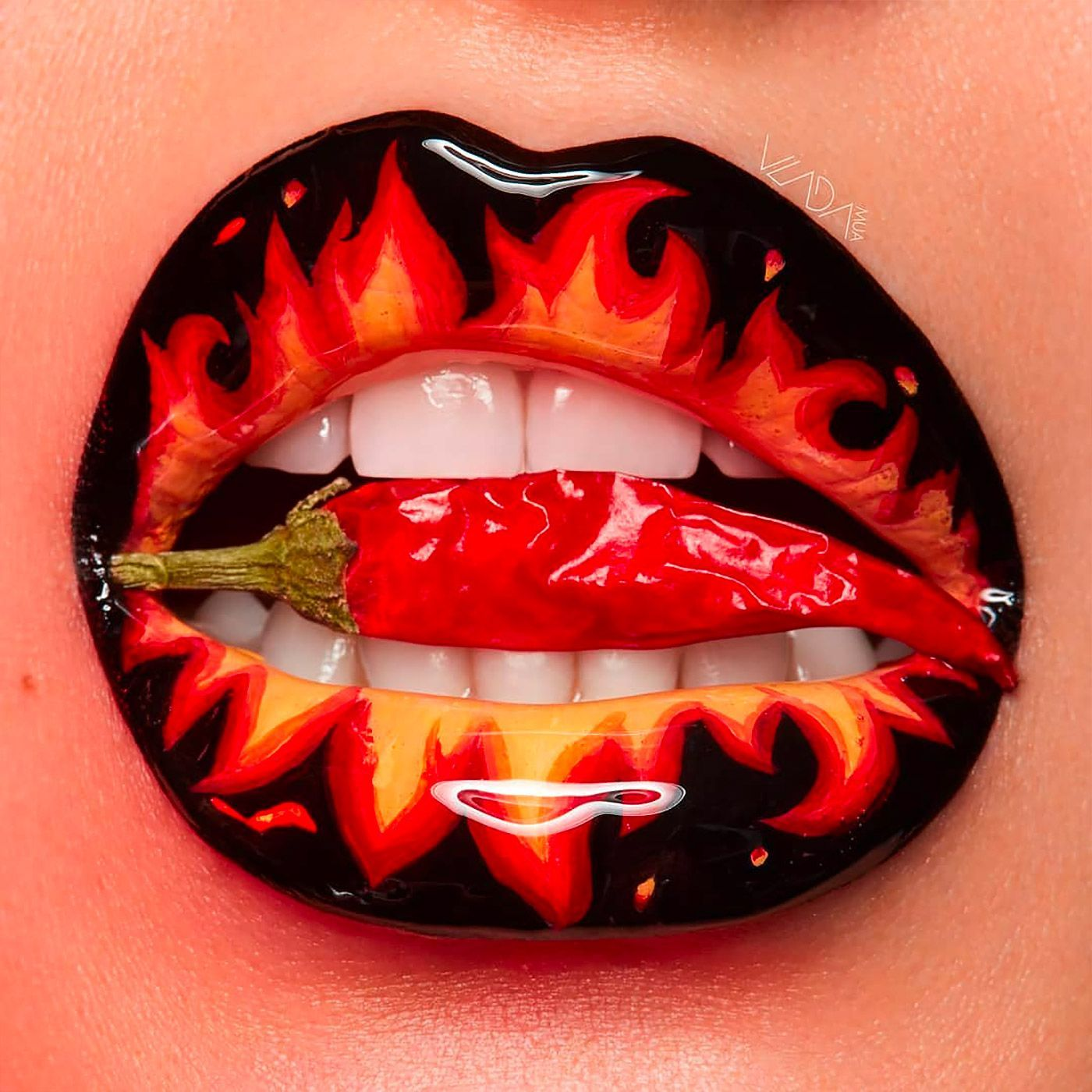 Photo of Striking Lip Artworks by Vlada Haggerty | Inspiration Grid