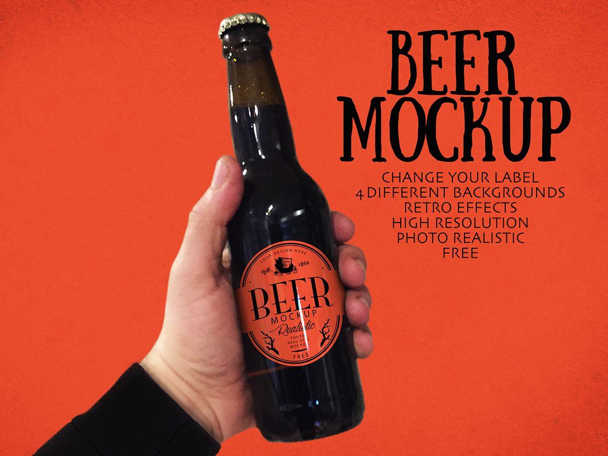 Free Beer Mockup On Behance Free Beer Beer Bottle Mockup