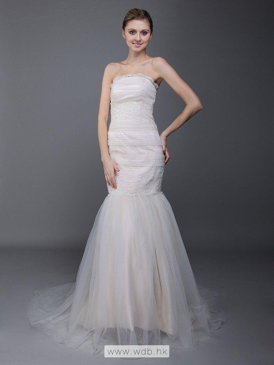 Mermaid dress wedding  Layered Bodice Strapless Mermaid Wedding Dress  Eye catchers