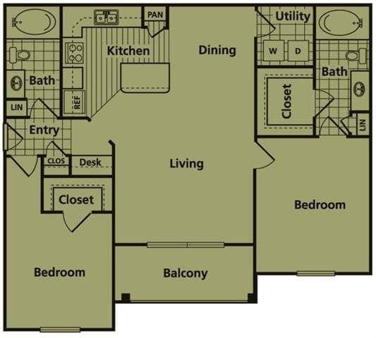 Family Friendly Two Bedroom Apartment