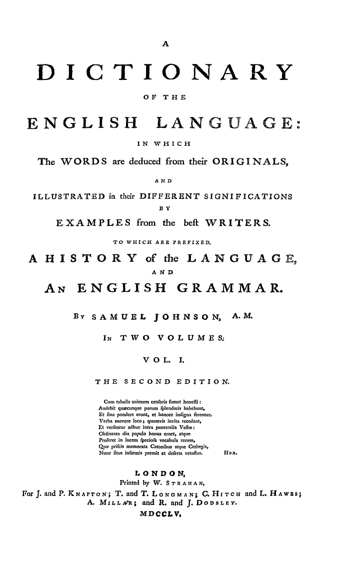 A Dictionary of the English Language - Wikipedia | The Good, The ...