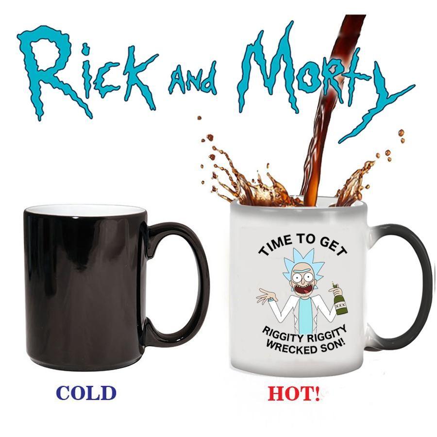 Light magic mug rick and morty mugs 350ml color changing