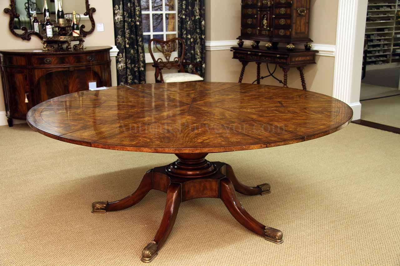 Mahogany Jupe Table With Self Storing Leaves