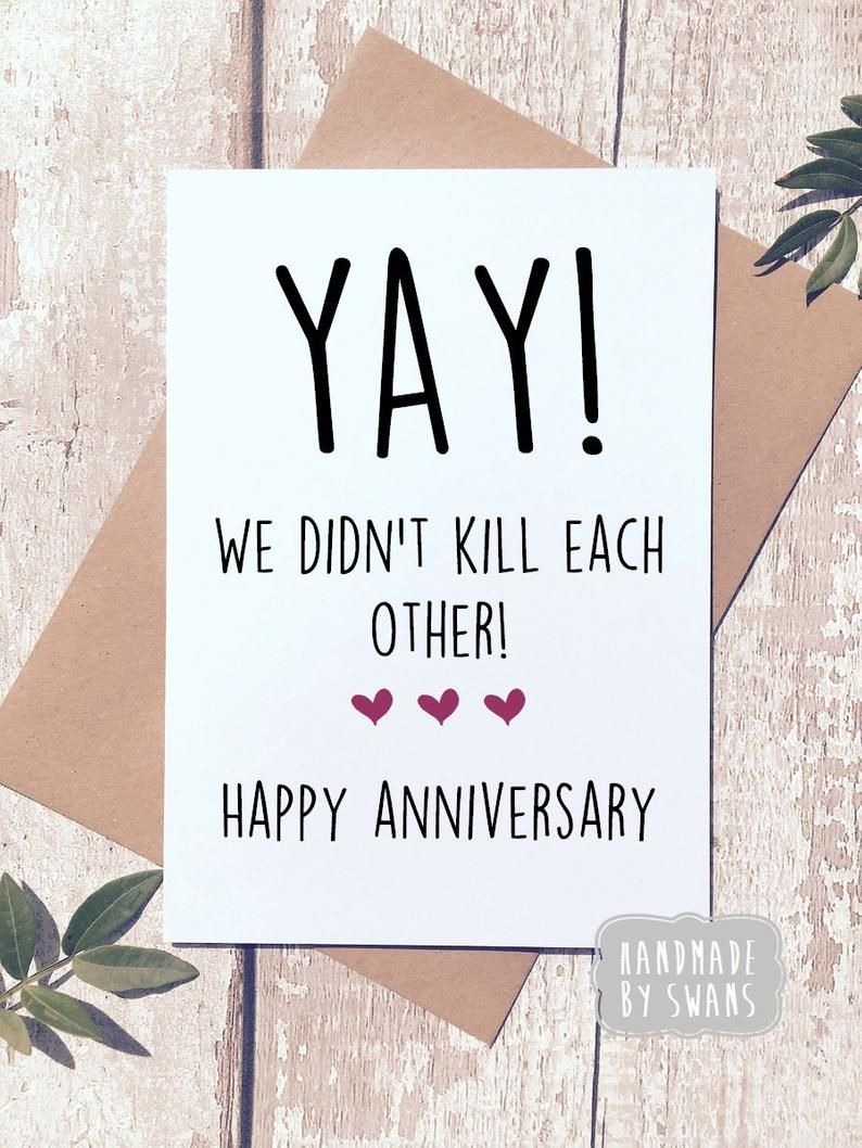 Funny Anniversary Card First Anniversary Card For Husband Etsy Funny Anniversary Cards Anniversary Cards For Husband Anniversary Cards For Boyfriend
