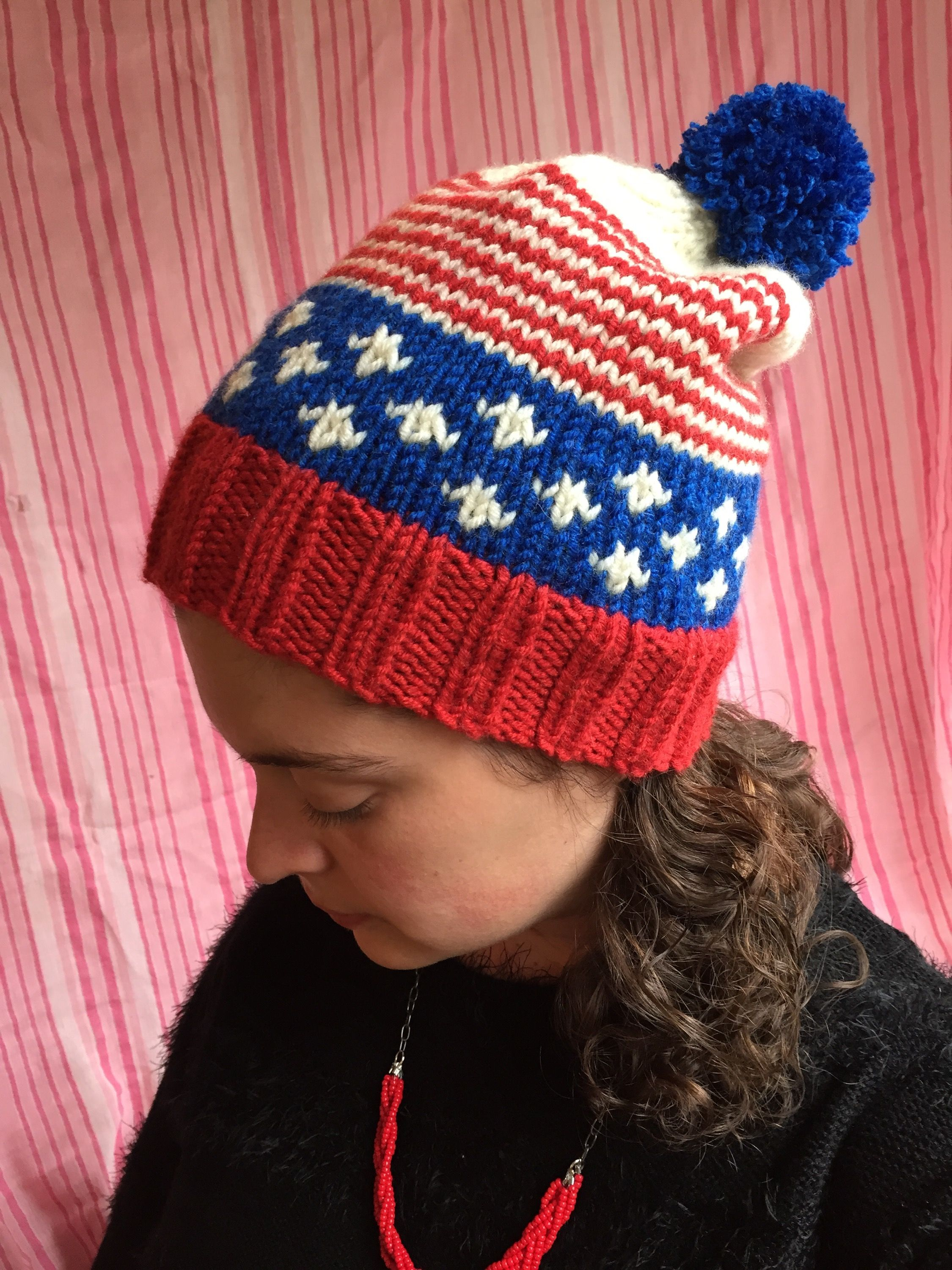 Old Glory Hat | A patriotic, free pattern from alaskaknitnat.com | A ...