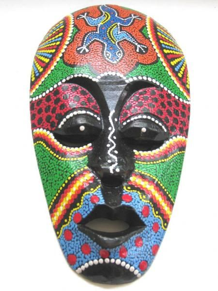 african mask tiki mask tribal bali art mask 10quot 4573