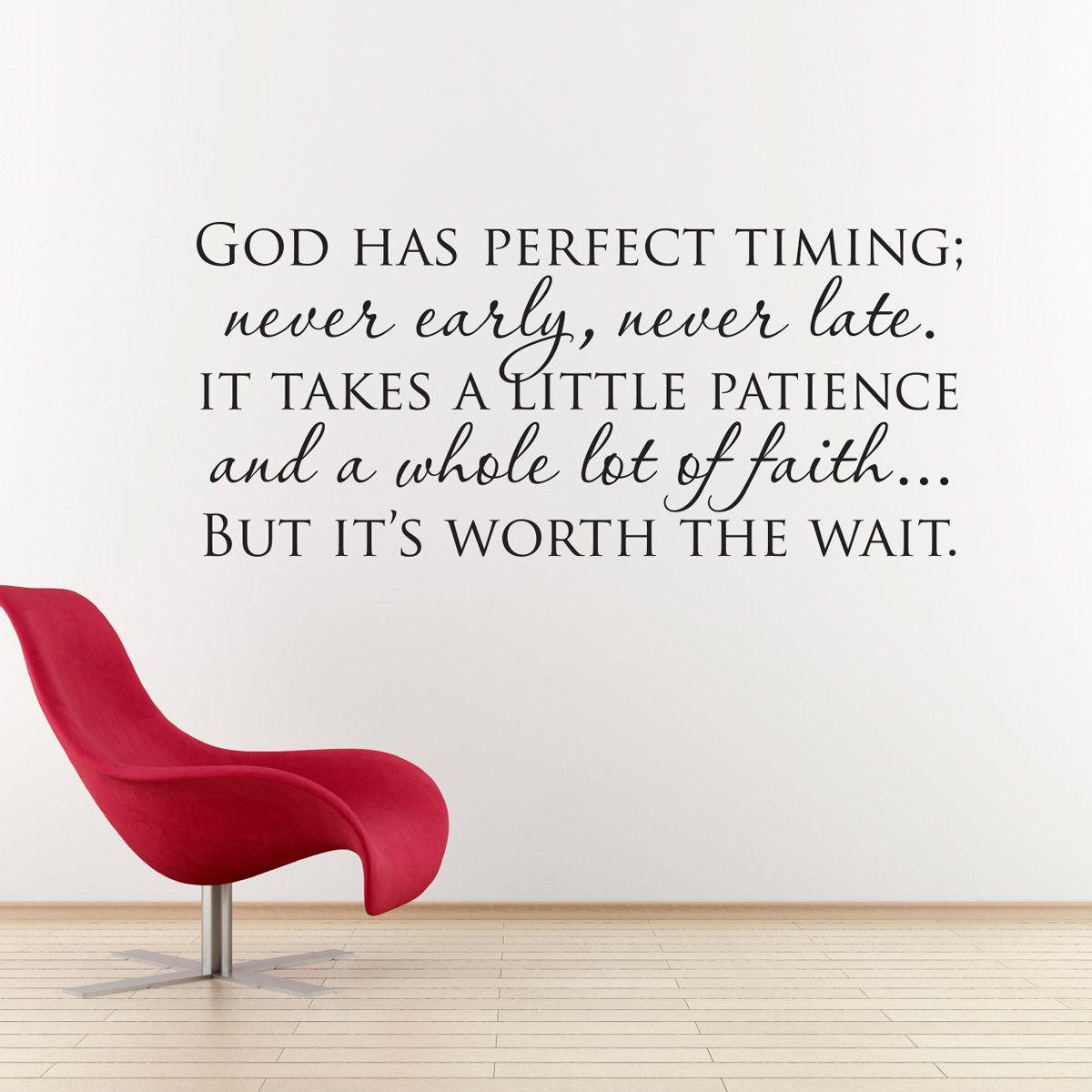 God Has Perfect Timing Decal Christian Wall Art Quote Wall Decal