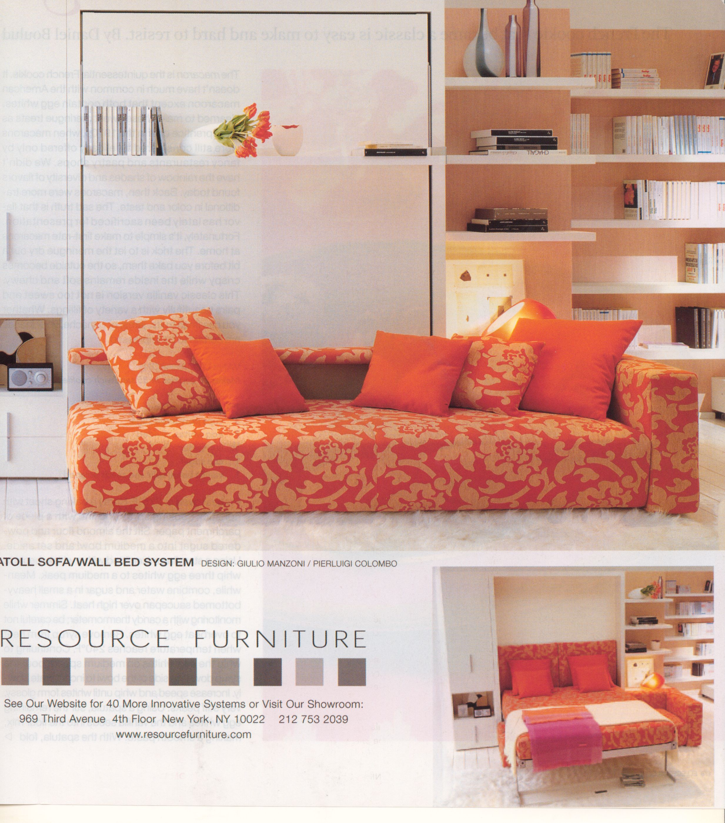 Resource Furniture Murphy Bed Contemporary  Interior Design  Home