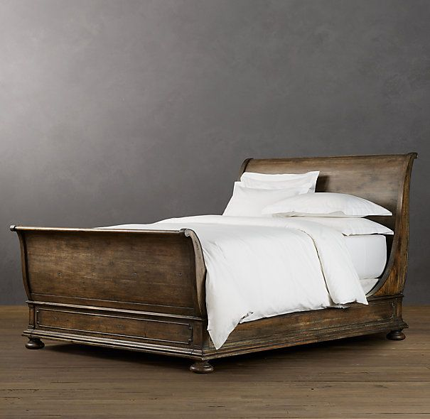 St James Sleigh Bed With Footboard Wood Sleigh Bed Bedroom Furniture Sleigh Bed Master Bedroom