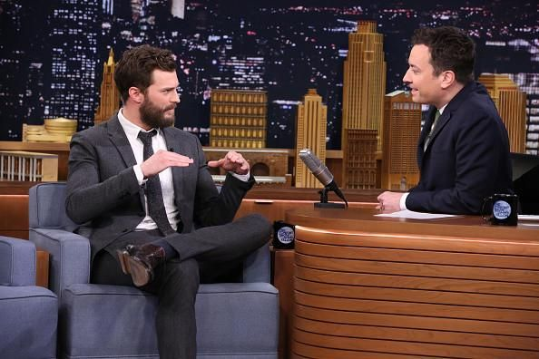 New Pictures of Jamie Dornan on The Tonight Show Starring Jimmy Fallon