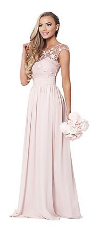 New Quiz cream floral one shoulder Embellished Party Prom Bridesmaids Maxi Dress
