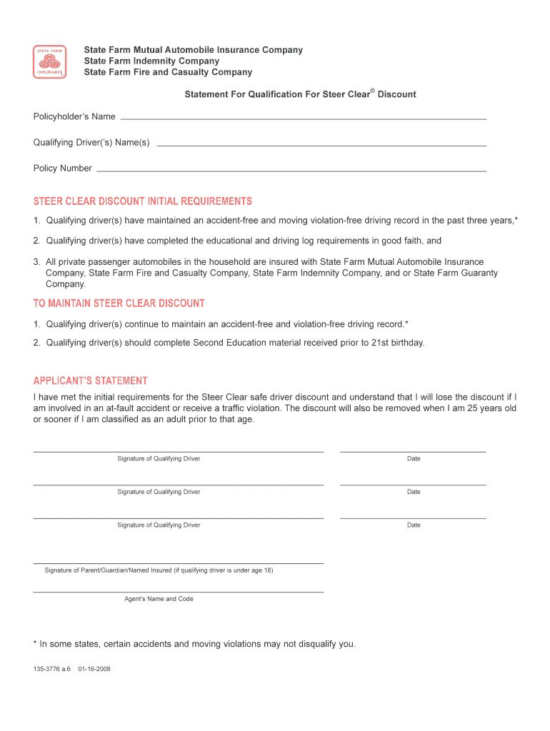 State Farm Steer Clear Fill Out And Sign Printable Pdf