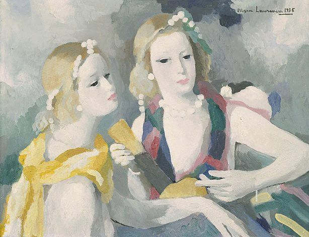 Marie Laurencin S Two Women With A Musical Instrument 1935