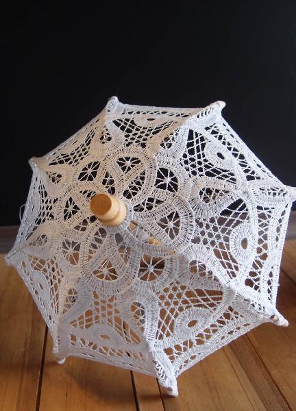 White Battenburg Lace Parasol Umbrella | Lace parasol ...